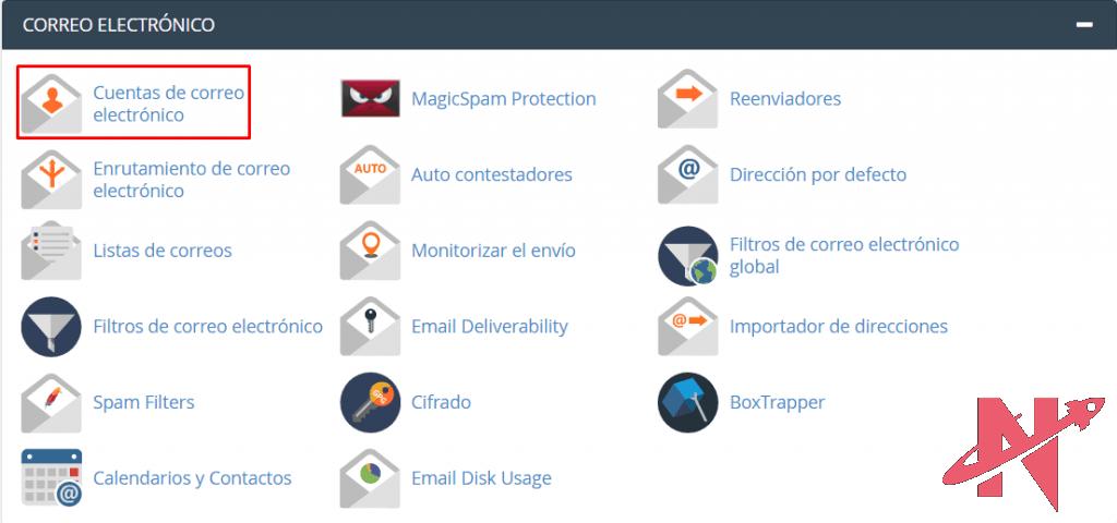 crear cuentas de correo electronico
