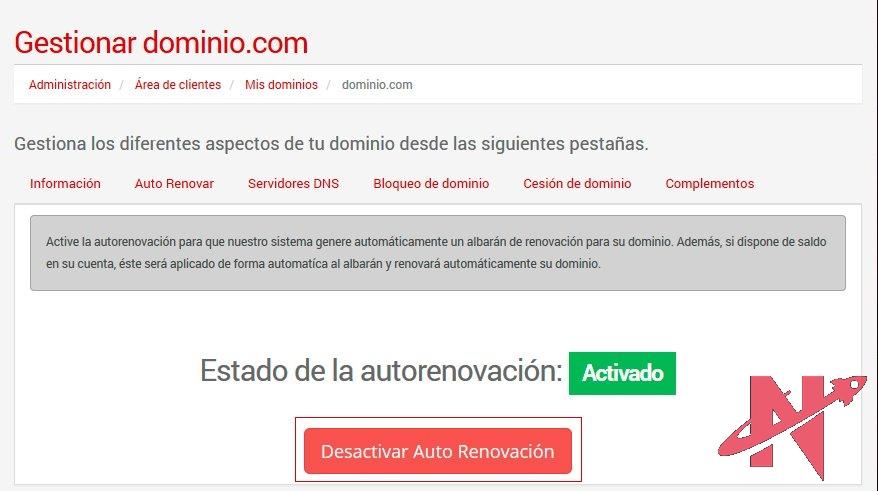 gestion-dominio-autorenovacion-desactivar-area-clientes-nicalia