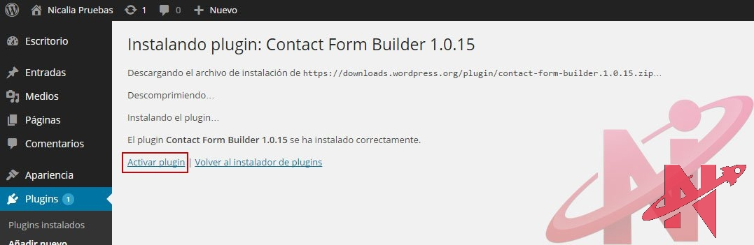 activar-plugin-wordpress