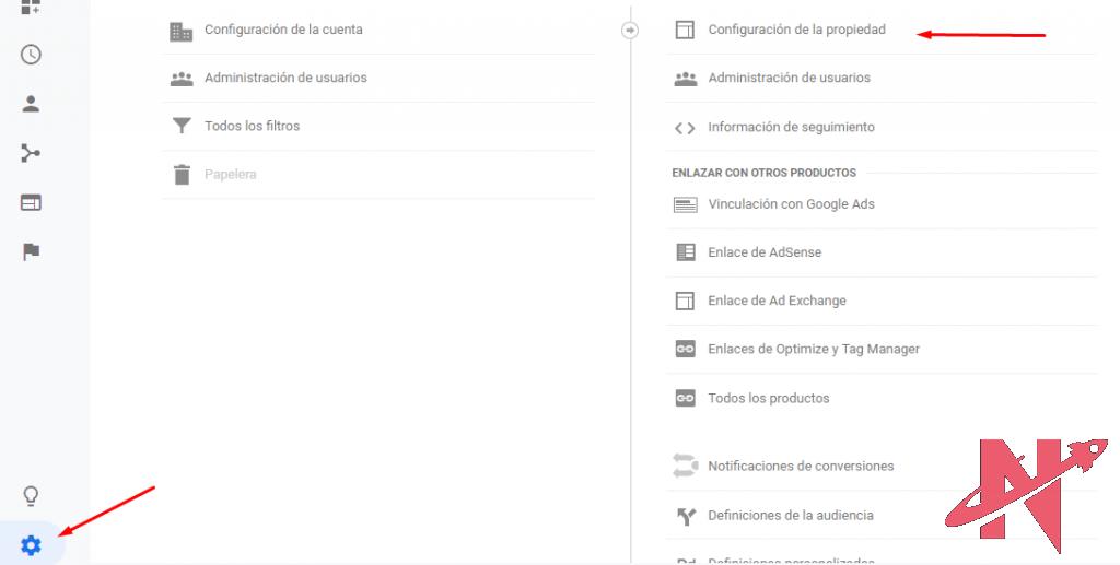 configuracion de la cuenta google analytics