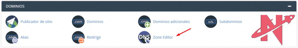 dominios cpanel editor de zona